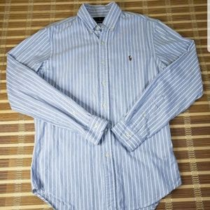 RALPH LAURE MEDIUM STRIPED PONY DRESS SHIRT GOLF